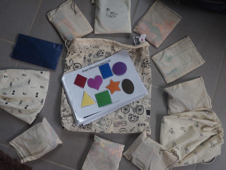 Busy bag pour enfants en voyage